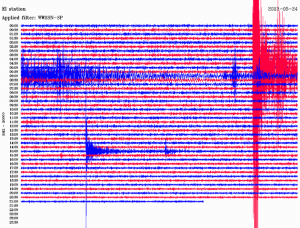 glengowla mines seismograph readout